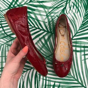 Sam Edelman Red Patent Leather Felicia Flats 8.5